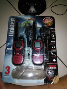 The Uniden GMR3040 Business Walkie Talkie in Packaging