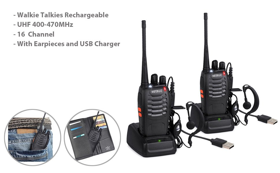 ESYNiC UHF Walkie Talkies Review - Walkie Talkie Reviews